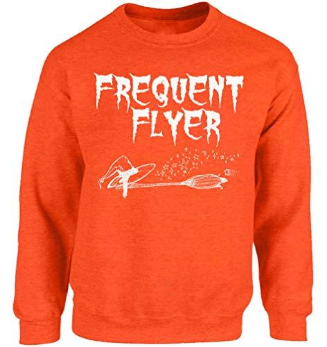 Vizor Halloween Pumpkin Sweatshirt Pumpkin Face Sweater Scary Halloween Outfit Frequent Flyer M