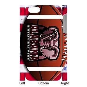 Generic Custom Extraordinary Best Design NCAA Alabama Crimson Tide Team Logo Series Plastic Case Cover for iPhone5 iPhone5S