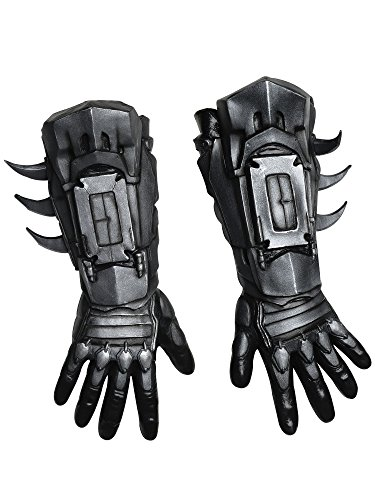 Rubie's Men's Arkham City Deluxe Batman Gloves, Black, One Size (Batman Costume Grappling Hook)