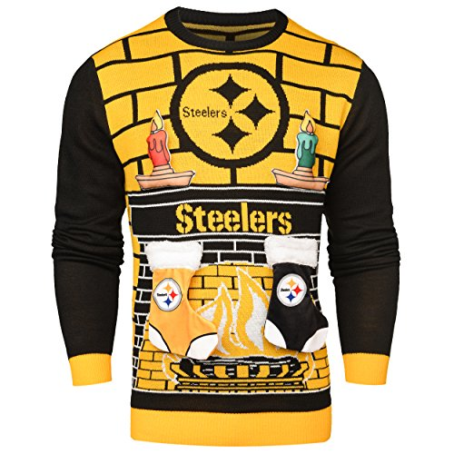 NFL Pittsburgh Steelers Ugly 3D Sweater, X-Large