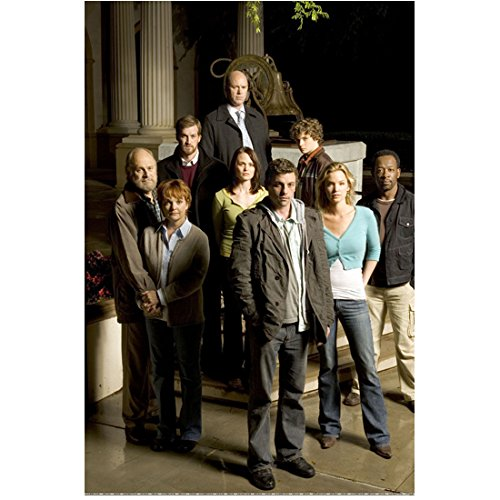 (Jericho with Skeet Ulrich as Jake Green with Cast Outside on Steps 8 X 10 Inch Photo)