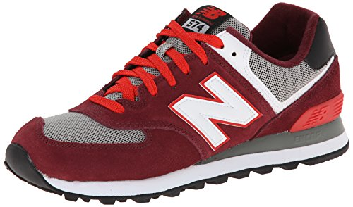New Balance Mens ML574 Classic Sneaker Burgundy/Grey