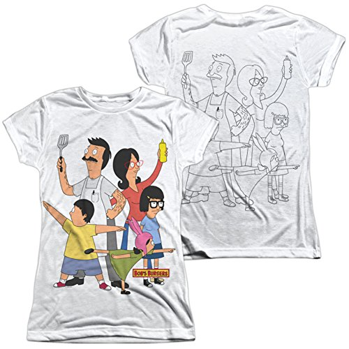 Trevco Juniors: BOBS Burgers- Hero Pose (Front/Back) Juniors (Slim) T-Shirt Size S