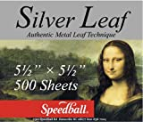 Speedball Mona Lisa Composition Silver Leaf, 500 Sheet Pack