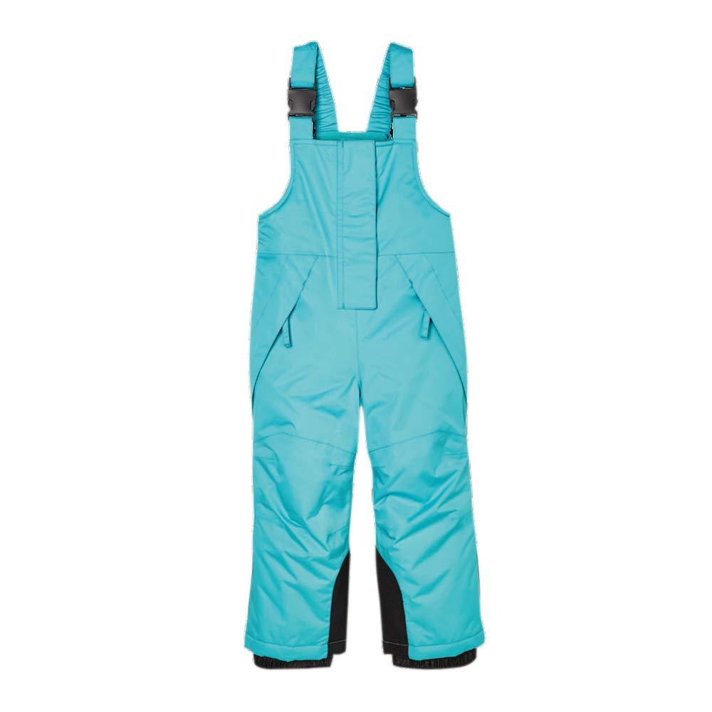 UDIY Little Kids Basic Ski Snow Bib Pant with Zipper Pockets, Green, 4-5 Years by UDIY