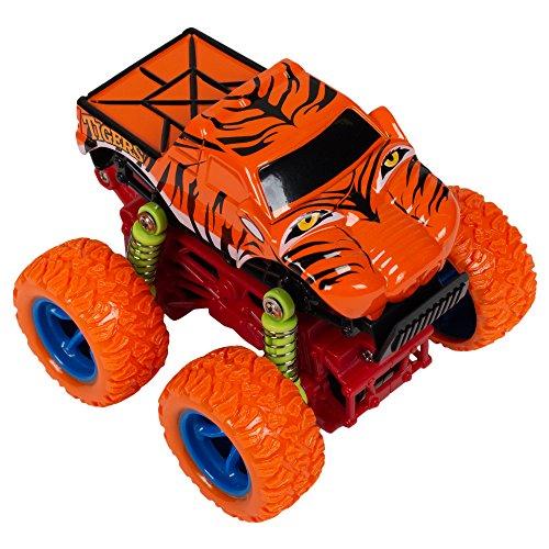 Master Toys & Novelties Tigers Mini Quad Racer Orange 4WD 4x4 S Plus Plastic 3.5 x 3 Inch Monster Rally Car Toy