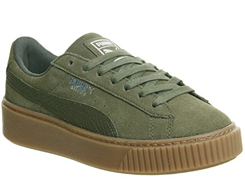 Puma Night Basket 03 Animal Platform Suede 365109 Olive Gum qfCqwA7p