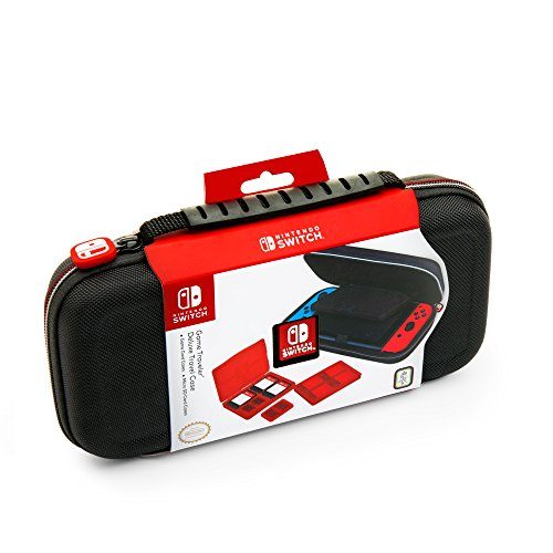 NINTENDO SWITCH DELUXE TRAVEL CASE - PREMIUM HARD CASE MADE WITH BALLISTIC NYLON, SECURE TIGHT FIT FOR YOUR SWITCH AND GAMES. DESIGNED TO PROTECT SWITCH'S ANALOG STICKS. BONUS: TWO MULTI-GAME CASES by RDS Industries, Inc
