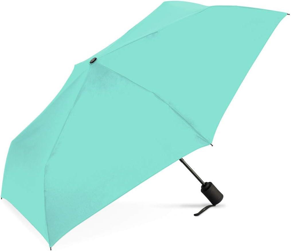 Mint ShedRain/® RainEssentials/® Auto Open//Auto Close Compact Umbrella