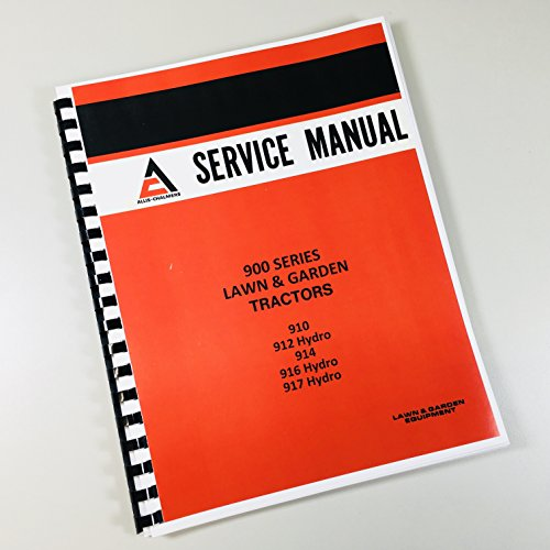 12 914 916 917 Lawn Garden Tractors Service Repair Manual (All Is Chalmers Service Manuals)