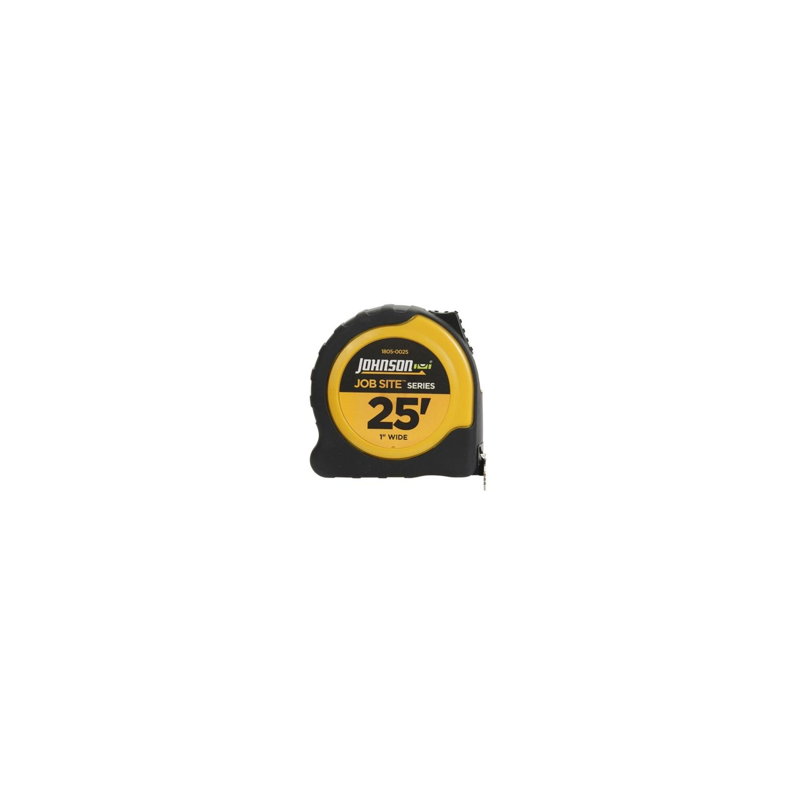 Johnson Level & Tool 1805-0025 Job Site Power Tape Measure, Nylon-Coated Blade/Rubberized Case, 1-In. x 25- - Quantity 4