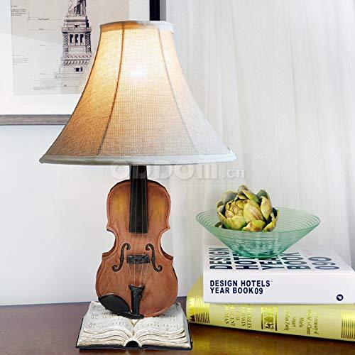 Pumpink Lámpara de mesa clásica Resina Violín Lámpara de ...