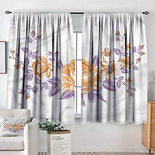 - RenteriaDecor Floral,Nursery/Baby Care Curtains Vintage Postcard Pattern 104
