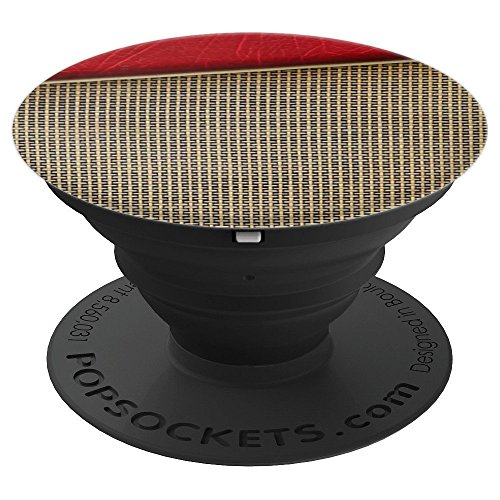Guitar Stand Tweed - Rock Metal Punk Band Member Music Retro Amplifier Texture - PopSockets Grip and Stand for Phones and Tablets