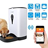 Dr.Feeder with Video/Audio Smart Pet Feeder, Remote Controlled Food Dispenser for Dog or Cat Buildin HD Camera and Audio Communication