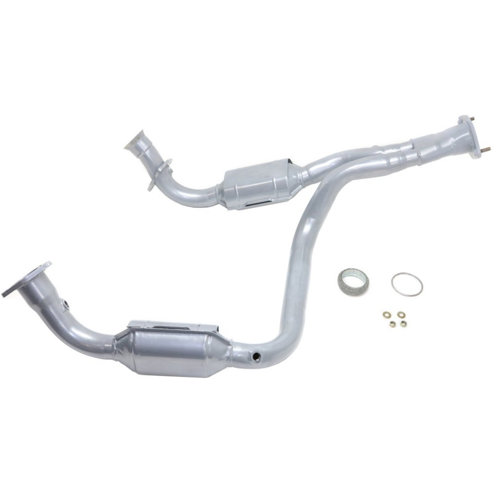 EvanFischer REPG960301 Silver Powder-Coated Catalytic Converter with Heat Shield