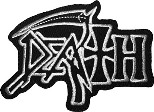 [DEATH Band Music Heavy Metal Songs Rock Symbol Logo Sewing Iron on Embroidered Appliques Costume Patch - Black] (Leeloo Cosplay Costume)