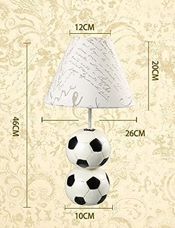 SDKKY Aprender lámpara de mesa, fútbol de ahorro de energía ...