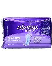 Always Maxi Profresh Long Binden zonder vleugels, 12 stuks