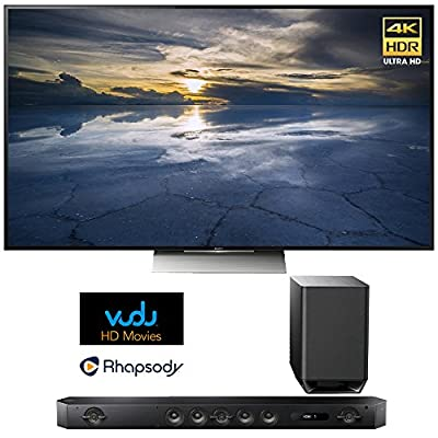 "Sony XBR-65X930D 65"" Class 4K HDR Ultra HDTV with Sony HT-ST9 Hi-Res 7.1 Channel Sound Bar with Wireless Subwoofer"