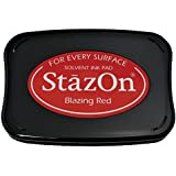 Tsukineko Full-Size StazOn Multi-Surface Inkpad, Blazing Red
