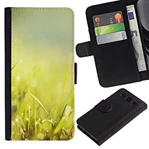 Stuss Case / Funda Carcasa PU de Cuero - Hierba Verde Glow - Samsung Galaxy S3 III I9300