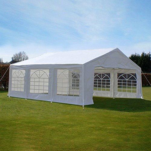 Quictent 20X20 Heavy Duty Outdoor Gazebo Party Wedding Tent Canopy Carport Shelter with Sidewalls (20x20, white)