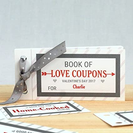 amazon com personalized love coupon book for him home kitchen