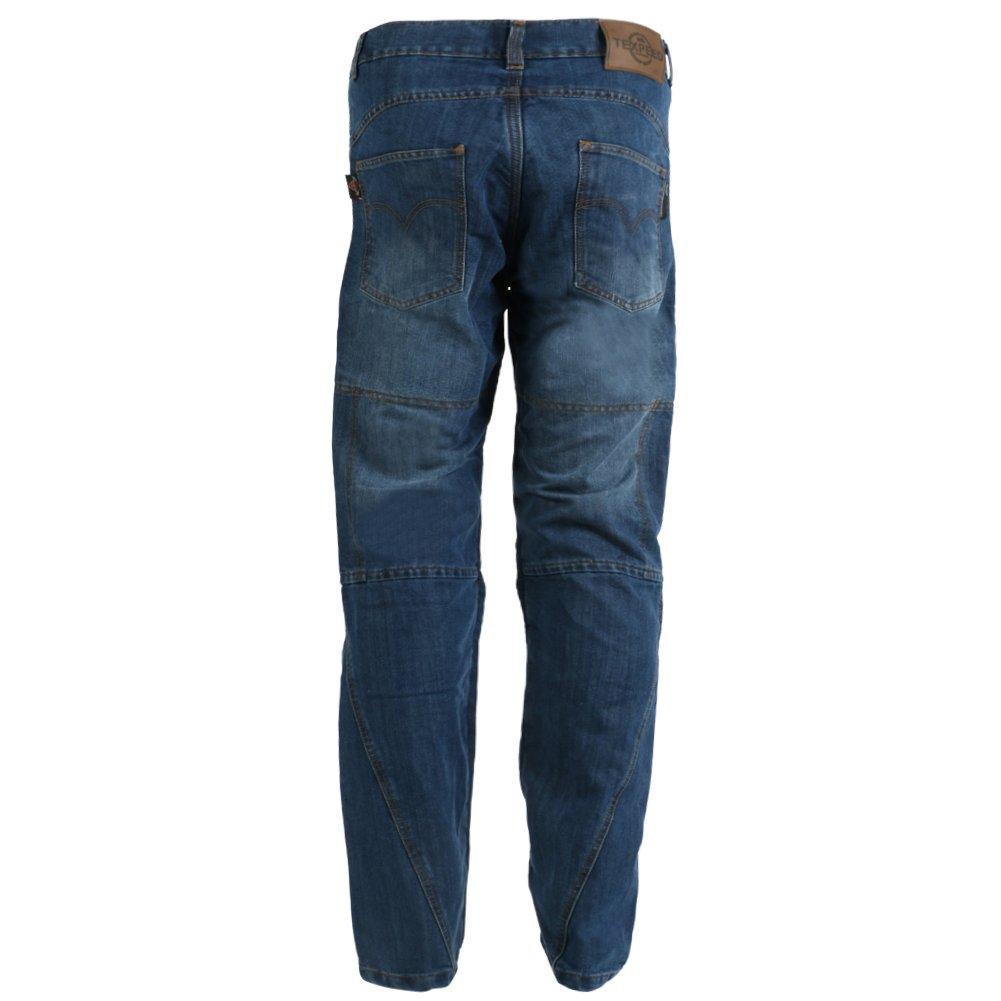 Texpeed Gr/ö/ße W32 L29 Blue Washed Kevlar-verst/ärkt Herren Motorradhose im Cargo-Jeans-Design