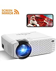 Mini Proyector Portátil Crosstour Soporte Full HD 1080P Inalámbrico Wi-Fi Vídeoproyector,Cine en Casa Compartir Pantalla,Compatible con HDMI USB SD VGA AV Android iPhone TV Box PS4