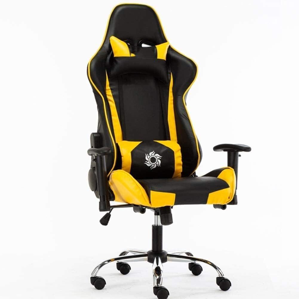 GSN Gaming Chair, silla ergonómica Silla de oficina barato con soporte lumbar Voltear las armas reposacabezas de cuero PU Silla ejecutiva de respaldo alto ordenador for Adultos Hombres Mujeres poltron