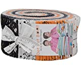 Dot Dot Boo Jelly Roll 40 2.5-inch Strips by Me and My Sister Designs for Moda Fabrics, 22330JR