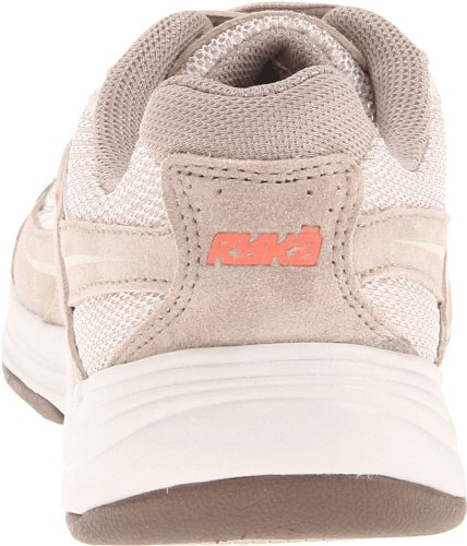 Ryka Womens Sport Walker 6 Walking Shoe Taupe/Dark Brown/Orange