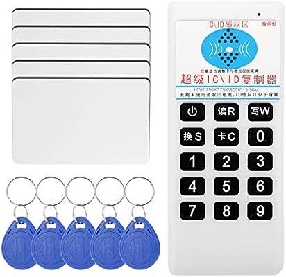 500K con Funci/ón de Transmisi/ón de Voz 250K 125K Copiadora//Duplicadora de Tarjeta de Identificaci/ón IC RFID NFC 13.56 MHz 375K Eboxer Lector//Escritor