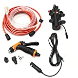 HITSAN 12V Portable 100W 160PSI High Pressure Car Electric Washer Auto Wash Pump Set Tool One Piece