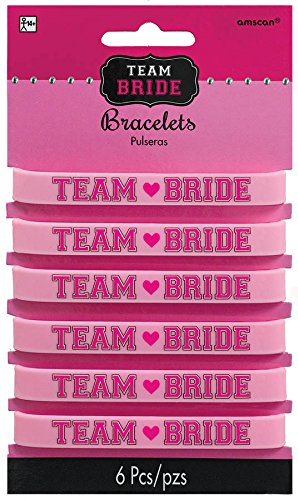 Amscan 396255 Rubber Bracelets, One Size, Pink