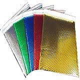 StarBoxes 250 Black Bubble Mailers 7''x6.75'' Metallic Glamour Self-Sealing Envelopes