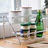 TANISHA'S GALLERY®Kitchen Counter Shelves (White) Steel (2 Step Kitchen Spice Rack