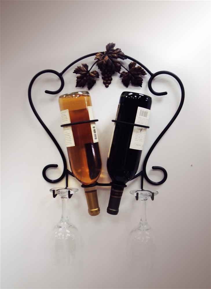 J&J Wire 2-Bottle Wine/Glass Holder by J&J Wire