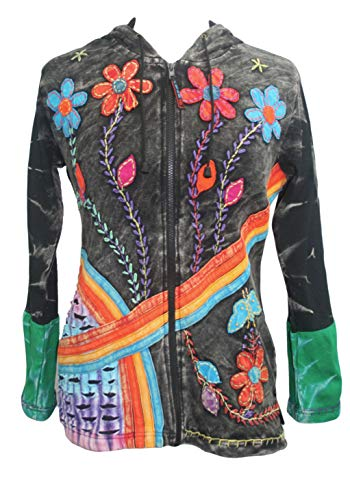 wer Embroidered Rainbow Bohemian Jacket[X-Large] ()