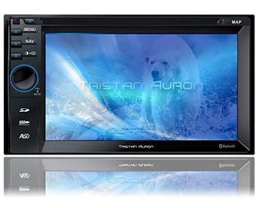 Tristan Auron BT2D7013A Autoradio | 6,5'' Touchscreen | Navi Europa | Freisprechfunktion | USB/SD-Slot | CD/DVD | 2 DIN