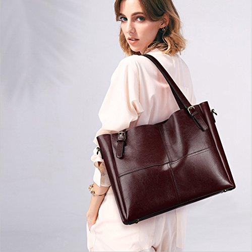 Leather Handbags Tote Coffee SAMSHOWME Shoulder Bag Handle Purse Satchel PU Women Coffee Top xqC86
