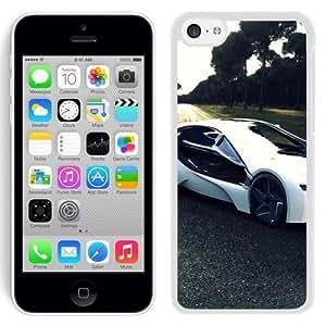 Bmw I8 Sports Car Road Tree (2) Hard Plastic iPhone 5C Protective Phone Case