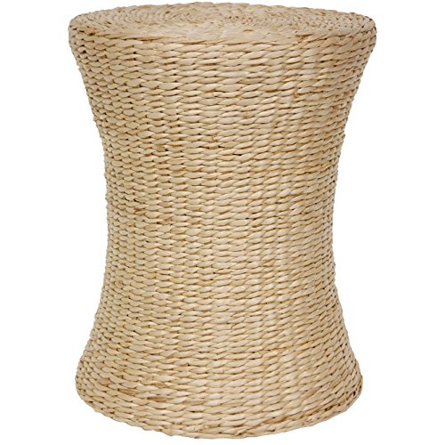 Oriental Furniture Woven Fiber Stool - Natural