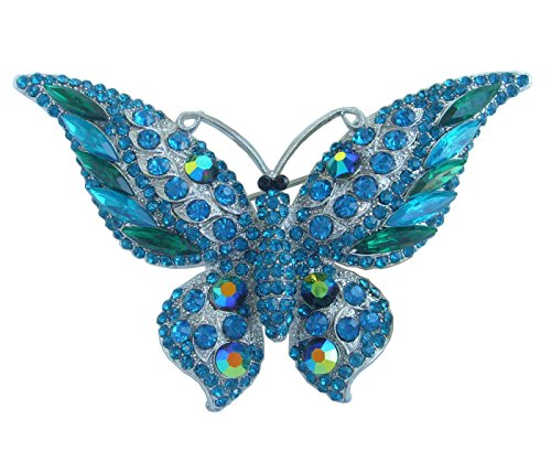 Austrian Crystal Butterfly Pin (Sindary Charming 3.74