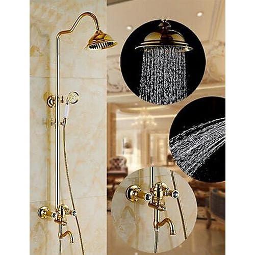 cheap SAEKJJ-Shower Faucet Antique Brass Ti-PVD Bathroom faucet