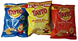 Tayto Irish Assorted Crisps - 12 Pack (12 X 37.5g Bags) - 4 Cheese & Onion, 4 Salt & Vinegar, 4 Smokey Bacon
