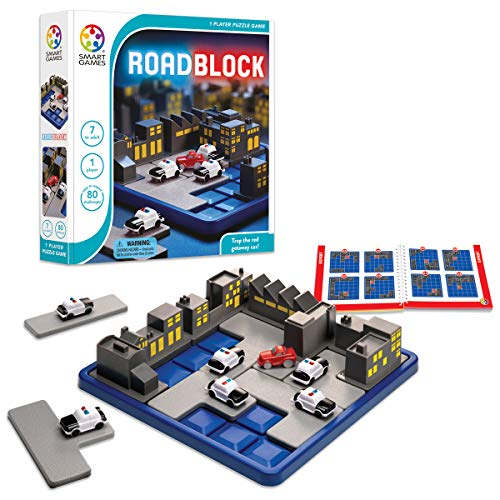 SmartGames RoadBlock Cognitive Skill-Building Puzzle Game featuring 80 Challenges for Ages 6 - Adult