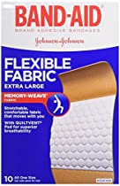 BAND-AID Flexible Fabric Bandages, Extra Large 10 ea (Pack of 3)
