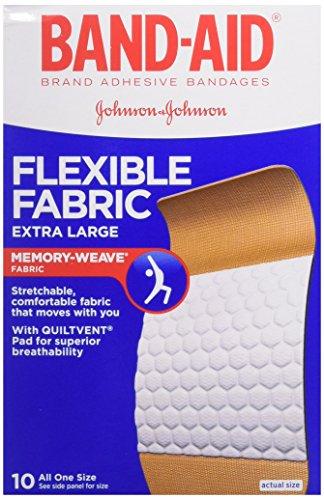 BAND-AID Flexible Fabric Bandages, Extra Large 10 ea (Pack of 3)